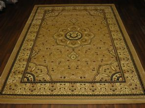 Woven Backed Beige Traditional Carved Rug 160cm x 230cm Approx 8x5 Top Quality